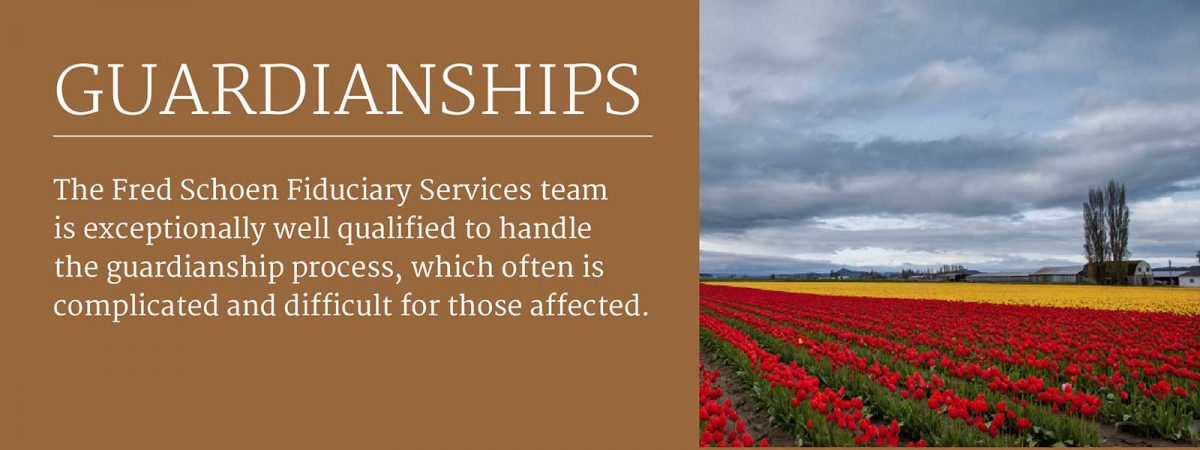 Link to Fred Schoen - Guardianships page: The Fred Schoen Fiduciary Services team is exceptionally well qualified to handle the guardianship process, which often is complicated and difficult for those affected.